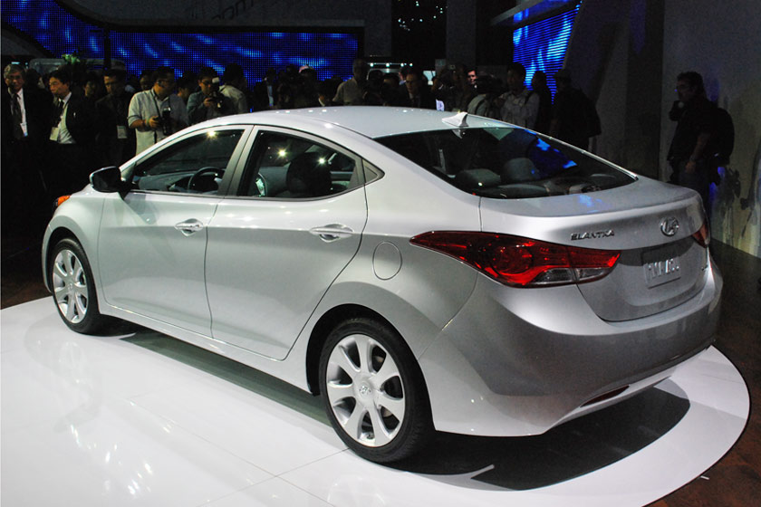 2011 Hyundai Elantra back 3/4 view