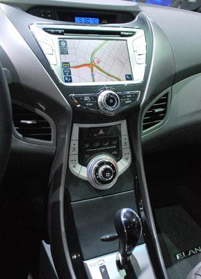 Hyundai Elantra center console